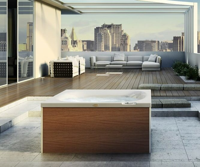 whirlpool outdoor 2 personen kleine whirlpools f r outdoor bei spadeluxe. Black Bedroom Furniture Sets. Home Design Ideas